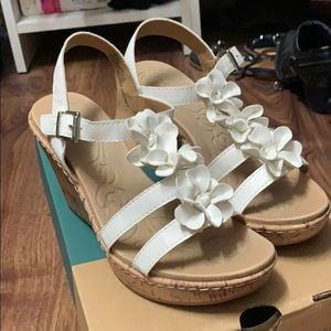 BOC white wedge shoes